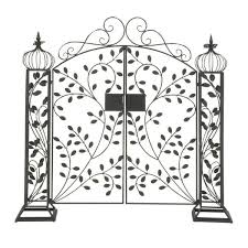 black metal traditional garden gate