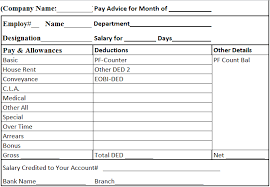Salary Chart In Excel Format Download Salary Slip Format In Excel And Word Managers Club