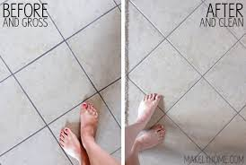 how to clean grout before after