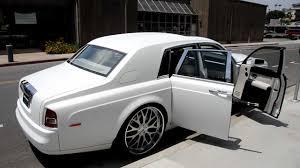 rolls royce phantom white with black rims. 2007 matte white rollsroyce phantom on 26 rolls royce with black rims s