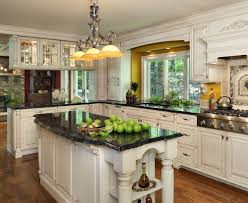 White Kitchens With Granite Countertops Black Island Counter Top With White Counter Tops Google Search