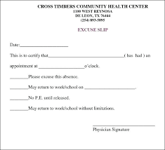 Doctors Note For Work Template Word Ericremboldt Com