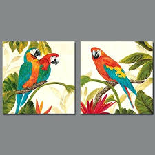 bird wall art canvas colorful animal flowers picture decoration birds parrot canvas painting wall art living  on colorful birds canvas wall art with bird wall art canvas bird art canvas painting modern art 3 piece