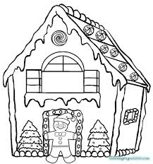 Fashionable Ideas Gingerbread House Coloring Pages Simple For Kids