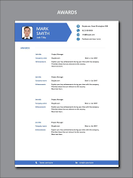 Modern Resume Skills Section Awards Achievements Abilities Show Off Your Skills You