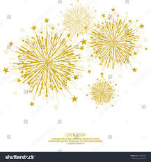 Background Decorations Design Vector Firework Design On White Background With Scattered