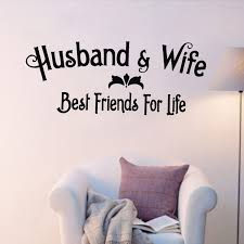 BEST FRIENDS FOR LIFE HUSBAND WIFE Wall Art Decal Quote Words Simple Best Husband And Wife