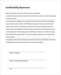 confidentiality agreement template confidentiality agreement form samples 9 free documents in word