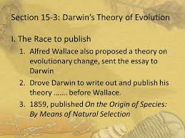 darwin s theory of evolution ppt  section 15 3 darwin s theory of evolution