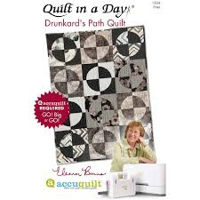 Quilt in a Day Drunkard's Path by Eleanor Burns | AccuQuilt.com & ... Quilt in a Day Drunkard's Path Quilts Pattern Booklet by Eleanor Burns  (PQ1504) Adamdwight.com
