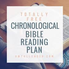 Read The Bible In A Year Chronological Chart Printable Chronological Bible Reading Plan Printable And