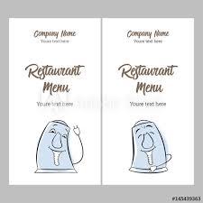 Funny Face Templates Set Restaurant Menu Design Card Business Templates Electric