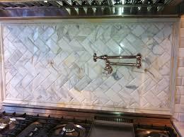 marble tile backsplash size