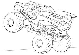Monster Truck Coloring Pages Preschool Raovat24hinfo