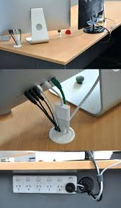 full image for computer desk grommet cable hole cover source simple cord management solutions that can