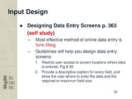 Guidelines For Data Entry Screen Design Output And User Interface Design Ppt Download