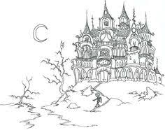 Small Picture Houses to Color and Print for adults coloring page skeletons