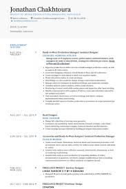 Ready To Wear Production Manager/ Assistant Designer Resume samples