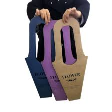 Paper Flower Suppliers Customized Paper Flower Bag With Handles Suppliers And