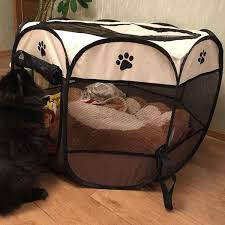 <b>Portable Folding Pet</b> tent Dog House Cage Dog Cat Tent Playpen ...
