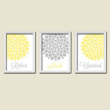 yellow and grey wall art on wall art prints for bathroom with 35 yellow and grey wall art home decor wall art live laugh love