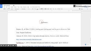 Apa Format On Google Docs