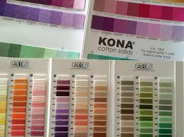 Kona Cotton To Aurifil Thread Conversion Chart Updated