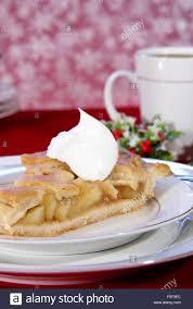 apple pie slice with whipped cream. Interesting With Slice Of Apple Pie With Lattice Crust Dollop Whipped Cream And Coffee For Apple Pie With Whipped Cream P