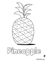 Pineapple Coloring Page Free Online Printable