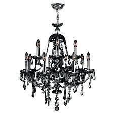 smoke crystal chandelier style light chrome finish and large gray
