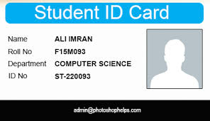 Blank School Id Template Student Identification Card Template Design The School And