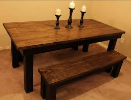 distressed dining table bench