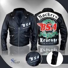 george black biker jacket