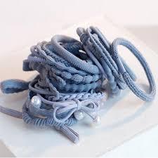 24PCS/Set Girl <b>Hair</b> Tie Ponytail Holder <b>Hair Rope</b> Elastic Rubber ...