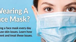 wearing a face mask may lead to skin