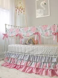 crib bedding for girls pink gray fawn baby