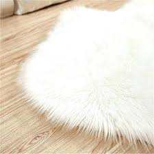 ikea rug faux fur white soft fluffy cm gy rugs sheepskin floor carpet pink