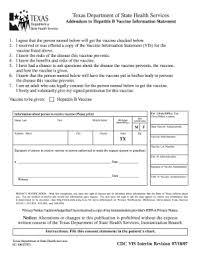 cdc hepatitis b vaccine information sheet texas department of state health services addendum to tdap vaccine