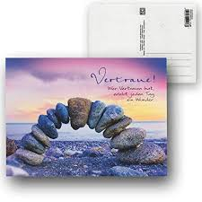 Cartolini Postkarte Karte Sprüche Zitate 155 X 115 Cm Vertraue Wer