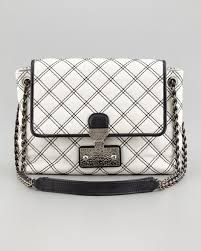 Marc Jacobs The Single Baroque Large Two-Tone Quilted Bag, White/Black &  Adamdwight.com