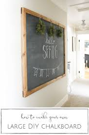 diy chalkboard ideas framed chalkb on diy chalkboard robot town wall decals proj