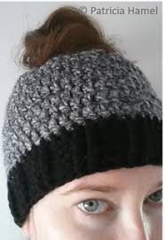 Free Crochet Ponytail Hat Pattern Cool Free Crochet Ponytail Hat Pattern Crochet Pinterest Free