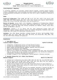 Network Engineer Resume 2 Year Experience Free Resume Example