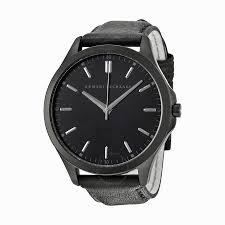 a x armani exchange watches jomashop armani exchange black dial black leather strap men s watch