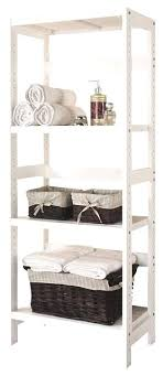 Ideas White Bathroom Shelves For 3 Shelf Wooden Bathroom Towel