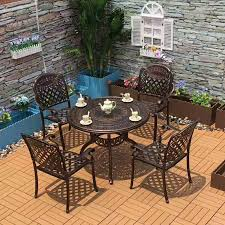 5 piece cast aluminum patio furniture