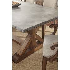 Steve Silver WY500T Wayland Dining Table In Driftwood