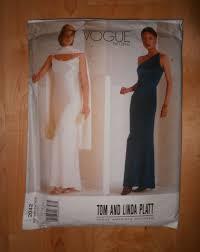 Designer Evening Gown Patterns Easy Vogue Designer Evening Dress Pattern Spaghetti Strap