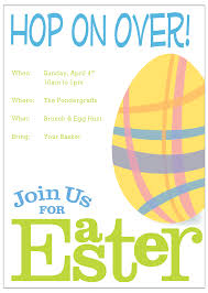 Easter Invitation Template Merry Christmas And Happy New