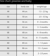 Preemie Size Chart Pants 100 Organic Merino Wool